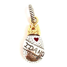 Authentic Brighton ABC Idaho Charm, J91352 Silver and Gold Finish, New - $10.45