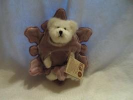 "White Boyds bear wearing purple star  5.5""  Sparkle Crystalfrost style# 904455 - $12.50"