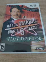 Nintendo Wii Are You Smarter Than A 5th Grader? Make The Grade ~ COMPLETE image 1