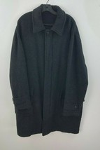 Brooks Brothers Long Overcoat Wool Blend Blend Gray Mens Large Wool Line... - $96.89