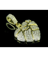 1Ct Round Cut VVS1/D Diamond Broken Heart Pendant 14K Yellow Gold Finish - $95.99