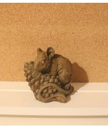 "VINTAGE BROWN CERAMIC MOUSE W/PINE CONE FIGURE 3.5"" - $12.82"