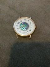 Old Vintage watch face abalone shell express LA quartz japan lax402 117 ... - $9.99