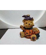 Boyd's Bearstone Friends Resin Ted Figurine Halloween Sorcerer Jack-o-la... - $19.80