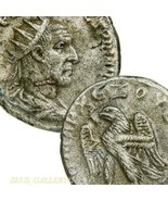 TRAJAN DECIUS Very RARE 6 in Prieur. Tetradrachm Eagle Ancient Roman Emp... - $422.10