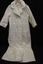 """VINTAGE White Faux Fur, Women's Night Robe, SEARS """"Best At Home Wear"""" Si... - ₨2,592.64 INR"""