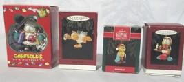 LOT OF 4 COLLECTIBLE GARFIELD CHRISTMAS ORNAMENTS HALLMARK 1992, '94, '9... - $22.95