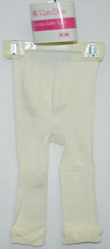 RuffleButts RLKIV060000 Winter White Ruffle Footless Tights Size 6 to 12 Months