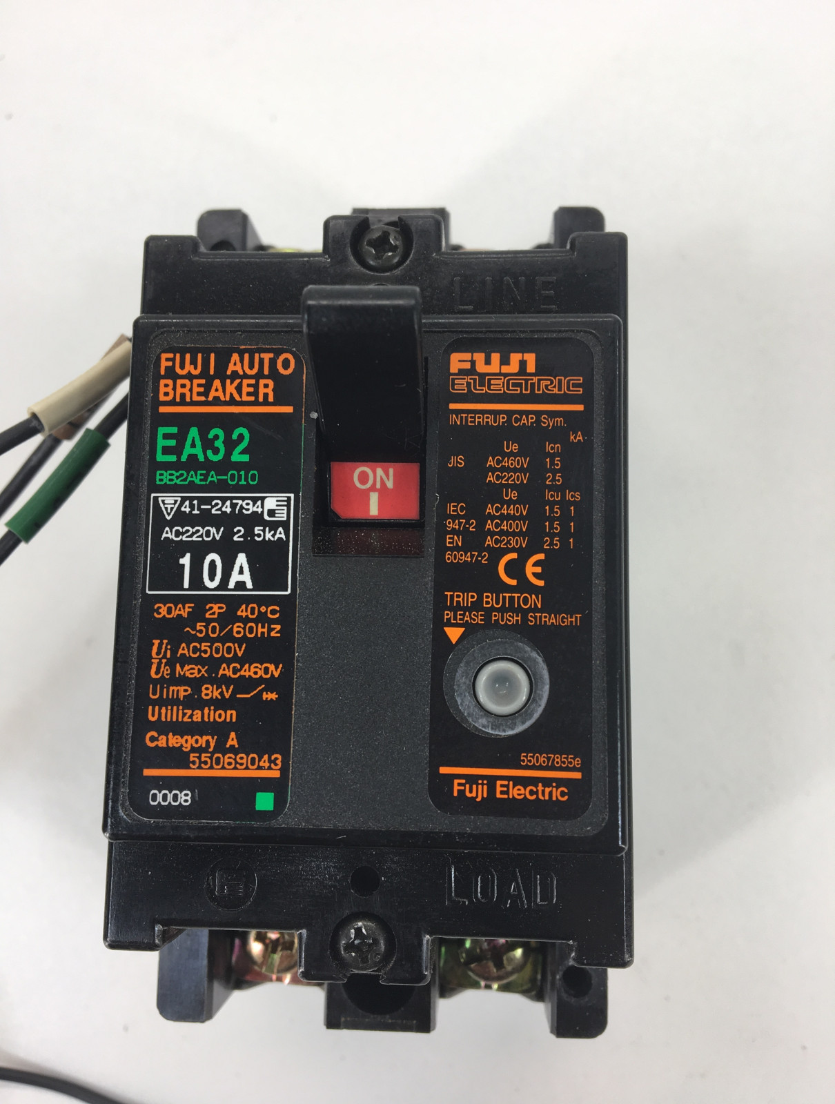 Primary image for Fuji EA32 10A Auto Breaker 2Pole 10A w/Alarm Switch
