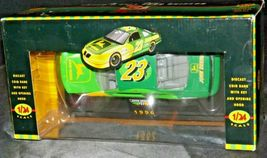 Bank Diecast with Key 1996 John Deere #23 Green Stock Car - 1:24 Scale with Box  image 7