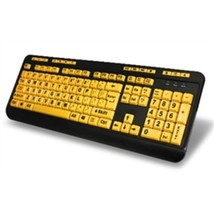 Adesso Keyboard AKB-132UY USB Luminous 4X Large Print Multimedia Desktop... - $590,70 MXN