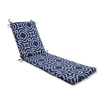 "Pillow Perfect Outdoor/Indoor Carmody Navy Chaise Lounge Cushion, 80"" x ... - £118.97 GBP"