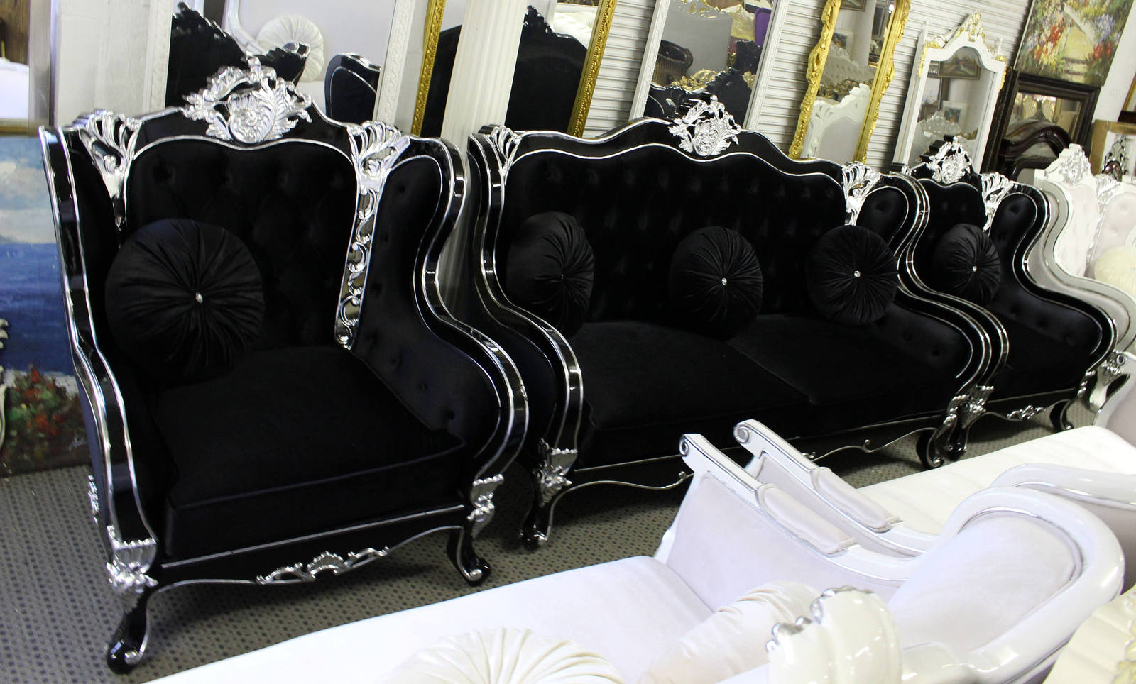 Enjoyable Beautiful Black Gothic Versace Style And Similar Items Uwap Interior Chair Design Uwaporg
