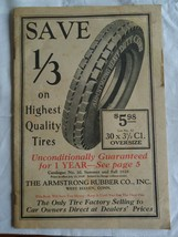 Armstrong automobile Tires Illustrated Catalog 1928 , 23 pages  - $35.00