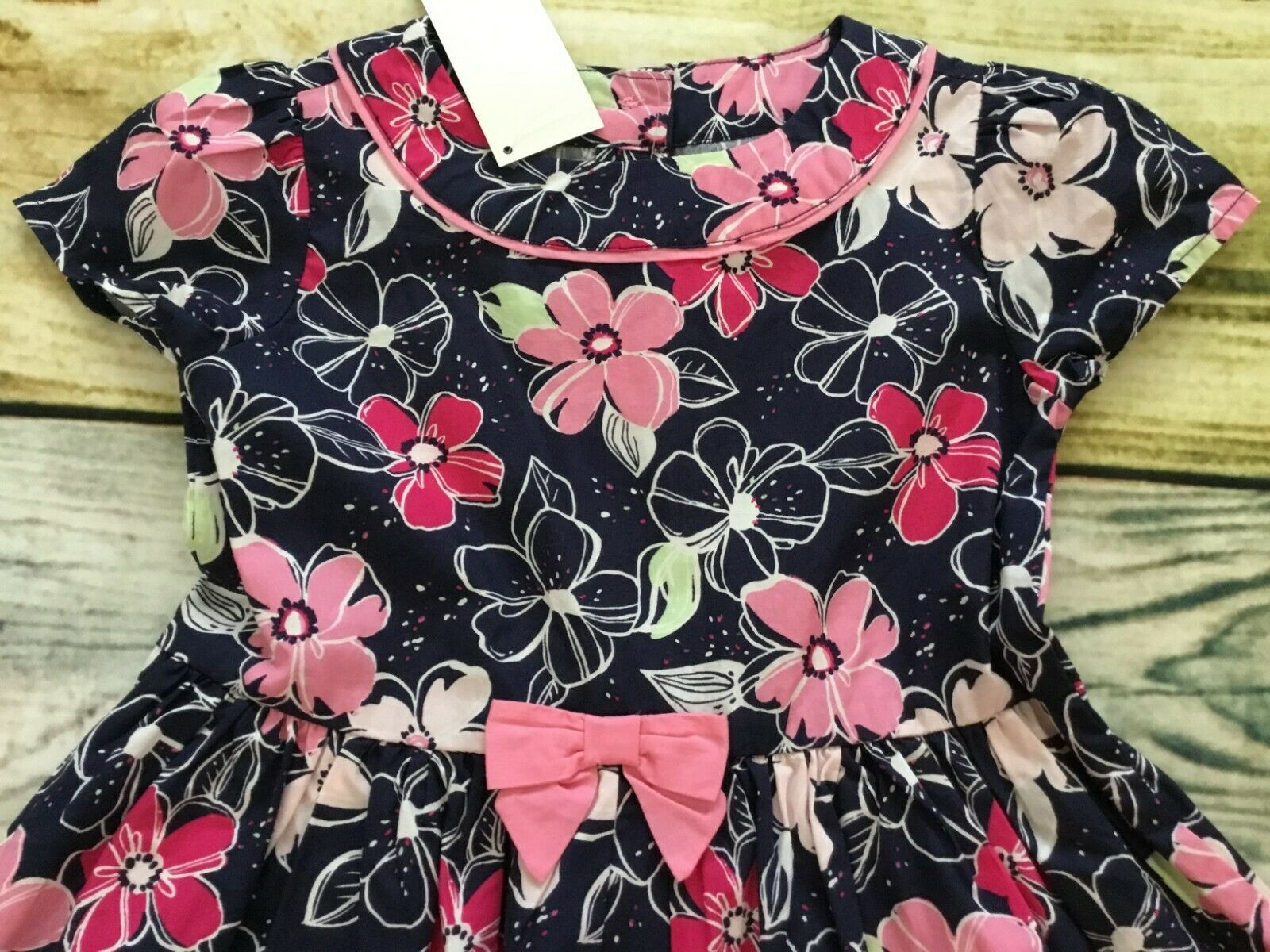 Gymboree 4T Puppy Rainbow Line Flower Floral Dress Tights Hair Outlet NWT