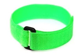 18MM NEON GREEN HOOK LOOP ONE PIECE SLIP THRU SPORT QUICK GRIP WATCH BAN... - $9.89