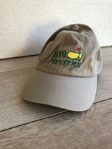 Masters Golf Hat Cap Tan Adjustable American Needle 2010 - $18.80