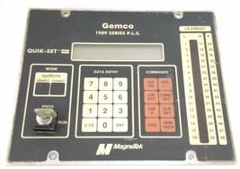 MAGNETEK GEMCO 1989 SERIES P.L.S. QUIK-SET III CONTROL PANEL image 1