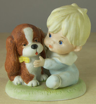 Baby with Puppy Dog Vintage Porcelain Figurine from HOMCO - $9.50