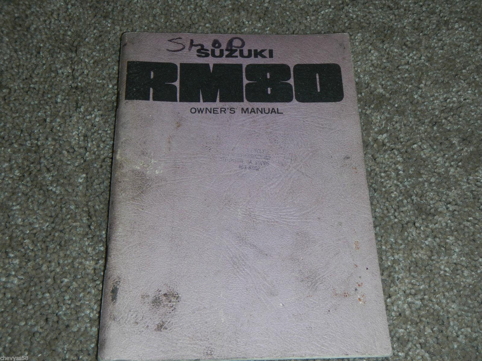 suzuki rm80 manual