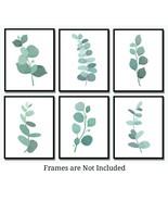 Botanical Prints Eucalyptus Leaves -Set of 6 (8x10)- Plant Leaf Watercol... - $17.77