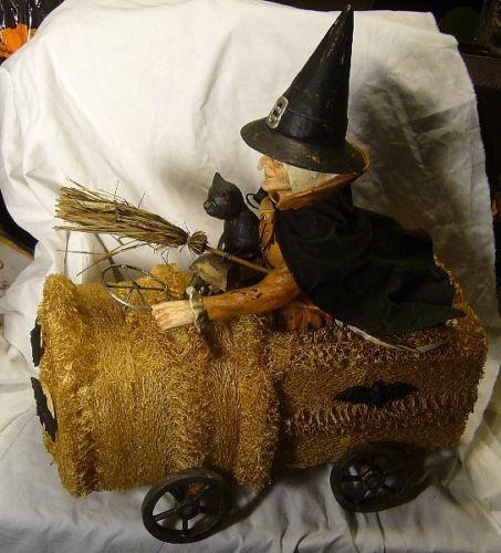 Bethany Lowe Halloween Witch in a Sponge Car