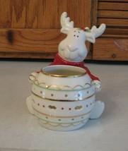 LENOX Christmas Moose Votive Hosting the Holidays 760539 - $15.83