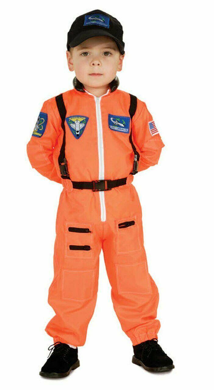 Rubie's Joven Americano Héroes Astronauta Pequeño Halloween DISFRAZ S 3-4 Nuevo