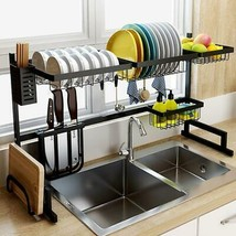 Ship from USA! Over Sink Dish Rack Kitchen Organizer And Storage Accessories Dis image 1