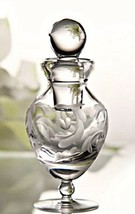 Marquis by Waterford Crystal Perfume Bottle Yours Truly Etched Heart 5.5 inches - $78.20