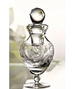 Marquis by Waterford Crystal Perfume Bottle Yours Truly Etched Heart 5.5... - $78.20