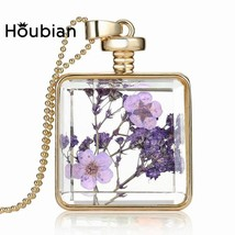 2018 New European and American square gold pink flower fashion pendant g... - $11.92