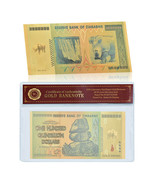 WR Gold Foil Zimbabwe 100 Quintillion Dollars Banknote For Collection In... - $3.99