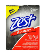 Zest for Men 2 Bars 4.5 oz each. Active Sports Long Lasting Scent Soap. ... - $14.95