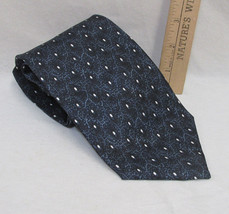 Mens Neck Tie Pierre Cardin USA Made Shades Blue & White Abstract Geometric Dot - $7.91