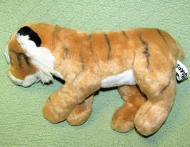 "TOYS R US PLUSH TIGER 12"" STUFFED ANIMAL 2010 SOFT TAN BLACK STRIPES WHI... - $24.75"