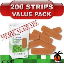 "200 - Fabric Adhesive Bandaid Strips, 2"" x 4"" Flexible Patch Band Aid Ba... - $35.86"