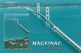 Postcard Macinac Bridge Upper Peninsula Michigan Unused Continental Card - $5.93