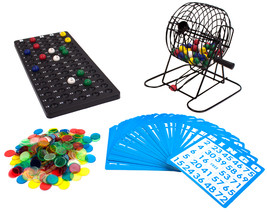 "Deluxe 6"" Bingo Game w/Colored Balls, 300 Chips and 50 Cards - $22.75"