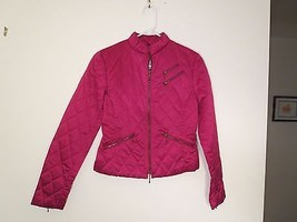 Women's Size 2 Trendy Garnet Quilted Zipper-Up Jacket New Without Tag BE... - $16.03