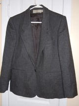 Evan Picone Womens Size 12 100% Pure Wool Gray Blazer ( MADE IN USA )  B... - $19.79
