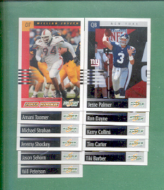 2003 Score New York Giants Football Team Set