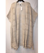 NEW OLD NAVY WOMENS PLUS SIZE 4X CROCHET OPEN FRONT KIMONO CARDIGAN WITH... - $23.21