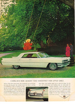 Vintage 1964 Magazine Ad Cadillac Ride Almost Too Smoothly For Little Girls - $5.93