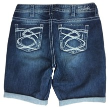 WOMENS SILVER JEANS SHORTS Low Rise Lola Dark Stretch Denim Jean Short P... - $33.33
