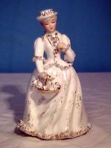 Vintage Figurine Victorian Colonial Woman Paras... - $12.00