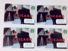 Starbucks Chicago 2015 New Issue Gift Card Lot of 4 NO VALUE Draw Bridge, River - $9.79