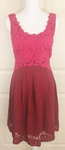 Moulinette Soeurs Anthropologie Carmindy Pink & Red Lace Colorblock Dres... - $37.95
