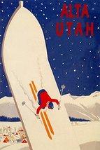 ALTA UTAH SKIING SNOWBOARD SKI JUMPING RACE SKIS WINTER SPORT TRAVEL TOU... - $12.64