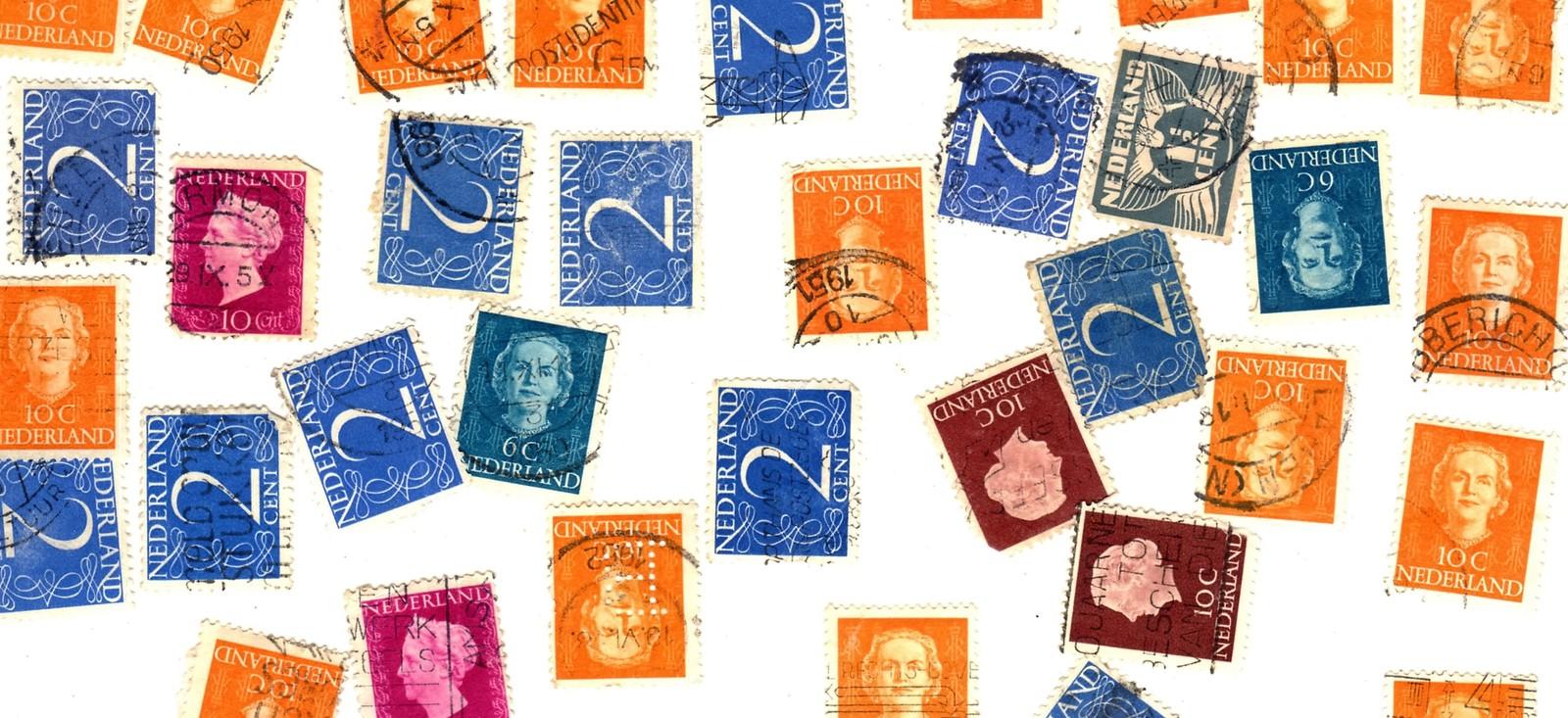 Stamps- Netherlands -European Postage - Netherlands (80 vintage stamps)